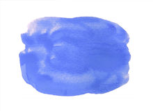 Fondo azul de la acuarela aislado en blanco Imagen de archivo libre de regalías