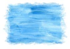 Fondo azul de la acuarela para el marco, las texturas y los fondos Acuarela abstracta Fotografía de archivo libre de regalías