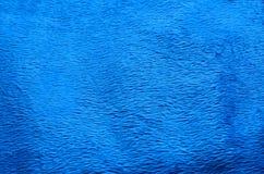 Fondo azul de la alfombra de la tela Imagenes de archivo