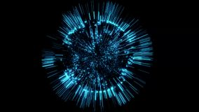 fondo azul de la animación de la esfera del holograma de 3D Tron libre illustration