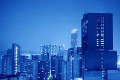 Fondo azul de la ciudad imagen de archivo libre de regalías