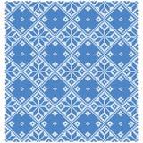Fondo azul de la cruz Ornamentos geométricos Fotos de archivo