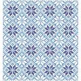 Fondo azul de la cruz Ornamentos geométricos Ilustración del vector Imágenes de archivo libres de regalías