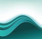 Fondo azul de la curva Fotografía de archivo