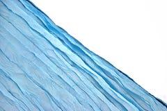 Fondo azul de la esquina de Aqua Water Wavy Fabric Textured foto de archivo libre de regalías