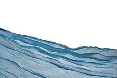Fondo azul de la esquina de Aqua Water Wavy Fabric Textured foto de archivo