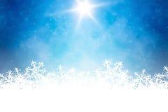 Fondo azul de la estación de la Navidad imagen de archivo libre de regalías