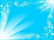Fondo azul de la flor Fotos de archivo