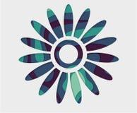Fondo azul de la flor Flor abstracta del vector Corte de papel del arte imágenes de archivo libres de regalías