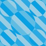 Fondo azul de la forma del círculo de la raya del tono Fotografía de archivo libre de regalías