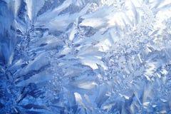 Fondo azul de la helada Fotografía de archivo libre de regalías