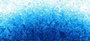 Fondo azul de la helada del hielo del invierno libre illustration