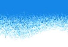 Fondo azul de la helada del hielo del invierno stock de ilustración