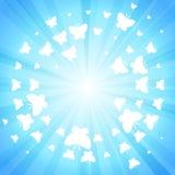 Fondo azul de la mariposa del brillo Fotos de archivo libres de regalías