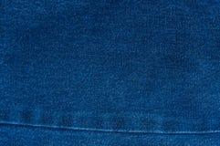 Fondo azul de la mezclilla, textura azul de los vaqueros del dril de algodón Imagen de archivo
