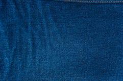 Fondo azul de la mezclilla, textura azul de los vaqueros del dril de algodón Fotografía de archivo libre de regalías