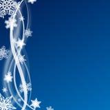 Fondo azul de la Navidad Foto de archivo