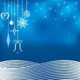 Fondo azul de la Navidad. stock de ilustración