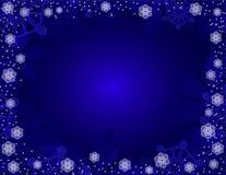 Fondo azul de la Navidad. Imagen de archivo