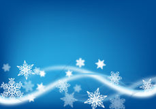 Fondo azul de la Navidad Fotografía de archivo