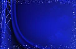 Fondo azul de la Navidad. Imagen de archivo libre de regalías