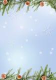 Fondo azul de la Navidad Imagen de archivo libre de regalías