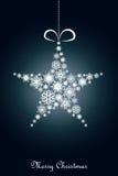 Fondo azul de la Navidad Imagenes de archivo