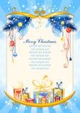 Fondo azul de la Navidad Imágenes de archivo libres de regalías