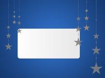 Fondo azul de la Navidad con área de texto Imagen de archivo libre de regalías