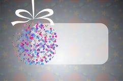 Fondo azul de la Navidad con la decoración Stock de ilustración