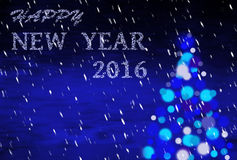 Fondo azul de la Navidad con la escritura 2016 Imágenes de archivo libres de regalías