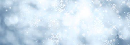 Fondo azul de la Navidad del invierno Foto de archivo libre de regalías