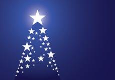 Fondo azul de la Navidad del pino de la estrella libre illustration
