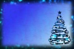 Fondo azul de la Navidad maravillosa con el brillo Fotos de archivo