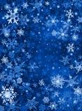 Fondo azul de la nieve ilustración del vector