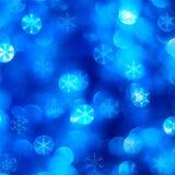 Fondo azul de la nieve Imágenes de archivo libres de regalías