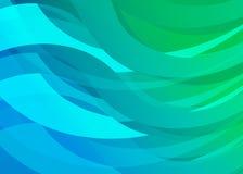 Fondo azul de la onda de Digitaces de la pendiente Fotos de archivo