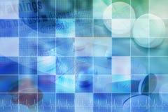 Fondo azul de la píldora de Pharmecutical con red Imagen de archivo libre de regalías