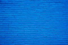 Fondo azul de la pared de ladrillo Imagenes de archivo