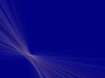 Fondo azul de la perspectiva del rayo Fotografía de archivo libre de regalías
