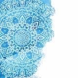 Fondo azul de la pintura de la acuarela Imagen de archivo