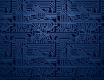 Fondo azul de la placa de circuito del vector