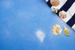 Fondo azul de la playa Imagen de archivo libre de regalías