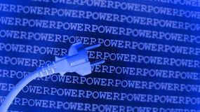 Fondo azul de la potencia Fotografía de archivo