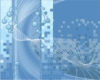 Fondo azul de la tecnología