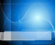 Fondo azul de la tecnología Imagen de archivo libre de regalías