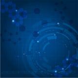 Fondo azul de la tecnología Foto de archivo libre de regalías
