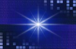 Fondo azul de la tecnología stock de ilustración