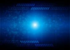 Fondo azul de la tecnología abstracta con la conexión Illu del vector Foto de archivo