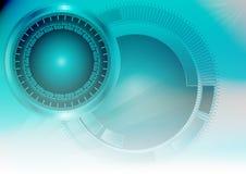 Fondo azul de la tecnología del extracto de la luz del color para Internet y el negocio del sitio web del gráfico de ordenador ilustración del vector